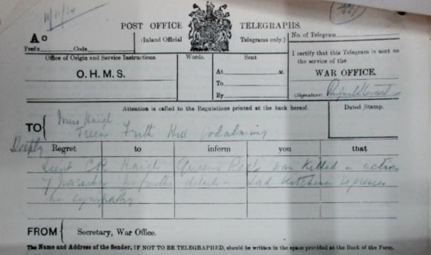 Haigh telegram 2