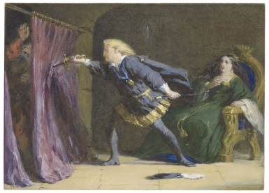 Polonius stabbed